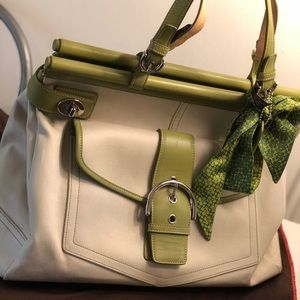 Coach Bag / Silk Bag Scarf